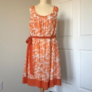 Elle Orange and White Dress Size 1X